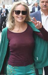 Sharon Stone - Bra-less Out Shopping trip in Paris (7/4/13)