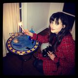Zooey Deschanel - Chanukah TwitPic - Dec 9, 2012