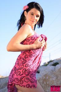 Adrianne Black Bikini Striptease