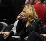Хайден Панотье, фото 14544. Hayden Panettiere - watching a basketball game at the Staples Center 03/07/12, foto 14544