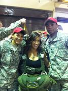 AJ Lee @Tribute To The Troops From Fayetteville, North Carolina.