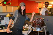 Morgan Webb - Gets a Doom Spider Mastermind Cake from id Software (5xHQ)
